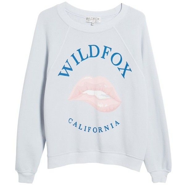 Women's Wildfox California Sommers Sweatshirt ($108) ❤ liked on Polyvore featuring tops, hoodies, sweatshirts, slouchy tops, slouchy sweatshirt, wildfox, wildfox sweatshirts and wildfox tops