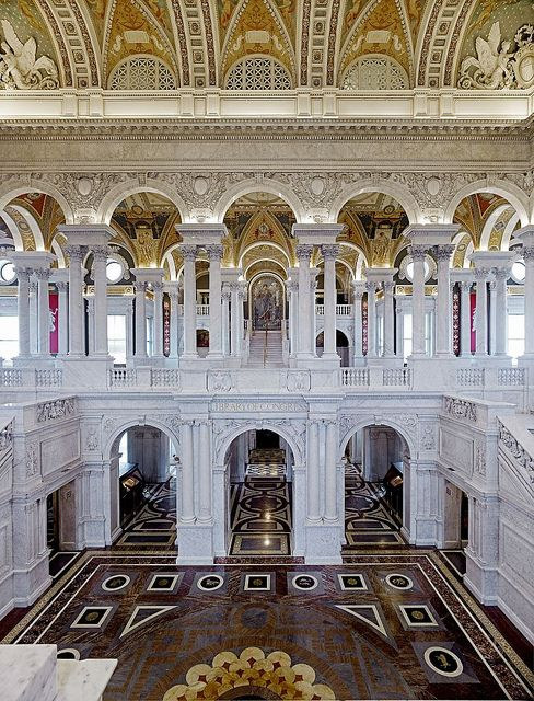 """Great Hall""  Library of Congress Thomas Jefferson Building, Washington, D.C."