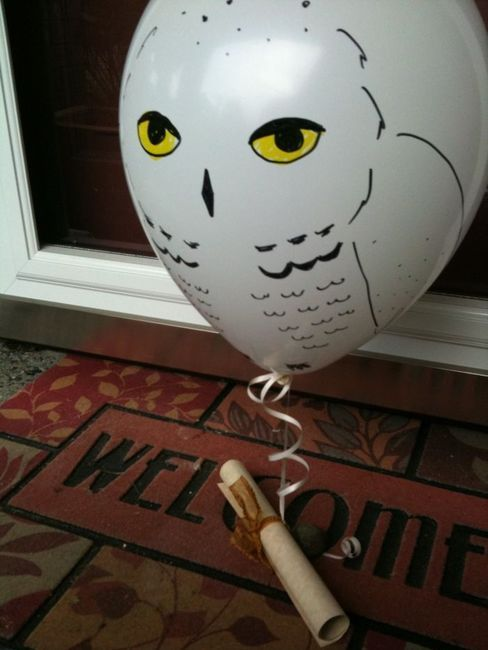 Owl Mail: Potter Party, Harry Potter Parties, Birthdays, Harrypotter, 11Th Birthday, Owl, Balloon, Party Ideas, Kid