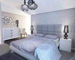 Dom 120 m2 Kraków ul. Lokietka - Sypialnia, styl nowoczesny - zdjęcie od katadesign