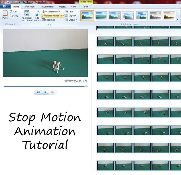 How to make stop motion movies at home. Step by step tutorial for making stop motion movies at home using Windows Movie Maker.