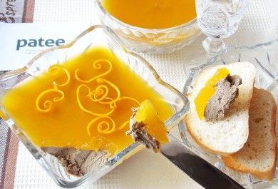 Паштет из куриной печени с апельсиновым желе
