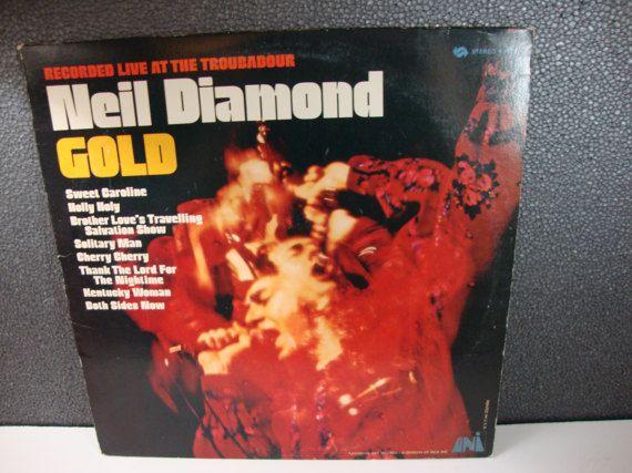 1970 Neil Diamond Gold Live At The Troubadour Vintage 12 Vinyl Lp Universal City Records Gold Diamond Neil Diamond Gold Live