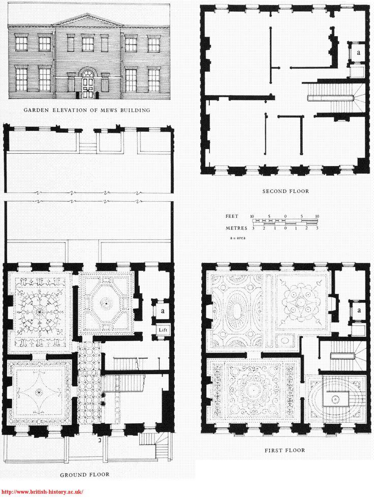 12 grosvenor square demolished fabulous floor plans for Georgian mansion floor plans