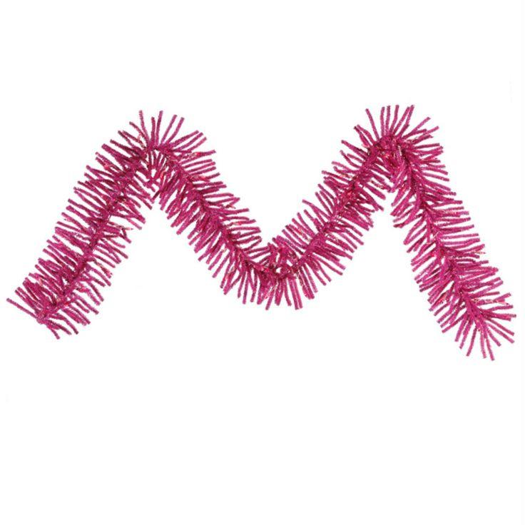 "9' x 10"" Pre-Lit Hot Pink Spruce Artificial Christmas Garland - Clear Lights"