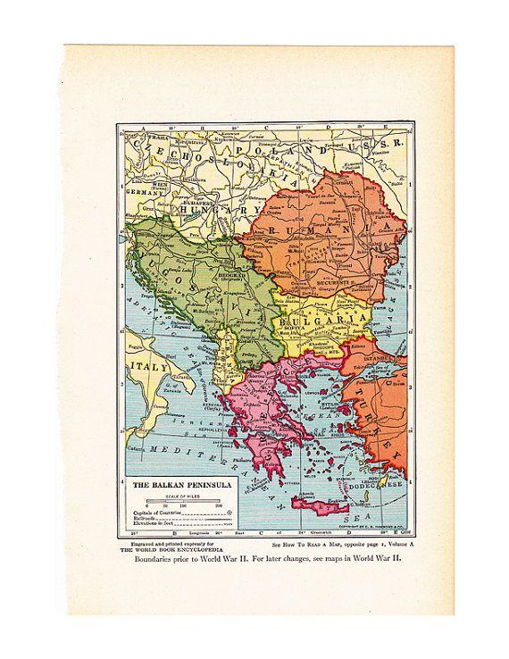 24 best Vintage Balkan Maps images on Pinterest  Vintage maps