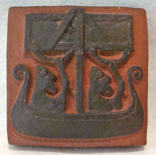 Thyssen Keramik Mid century Danish Modern Art Pottery Viking Tile ...BTW, check this out!!!! : http://artcaffeine.imobileappsys.com