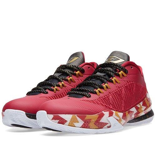 Nike Jordan CP3.VIII 'Christmas' (Cardinal Red, Bronze & Black)