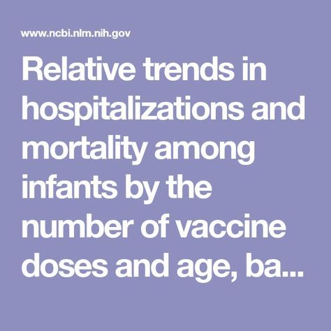 Relative trends in hospitalizations and mortality among infants by the number of vaccine doses and age, based on the Vaccine Adverse Event Reporting System (VAERS), 1990–2010