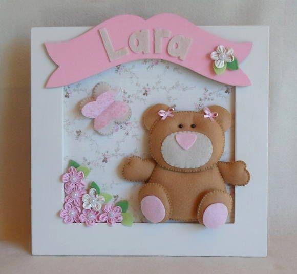 Quadro Porta Maternidade Ursa | Sonho e Arte | 1A06F3 - Elo7