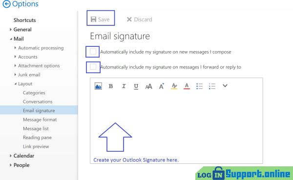 in microsoft outlook how to create a signature