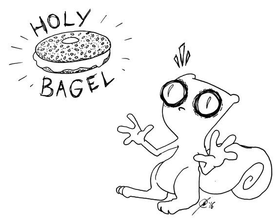 Hey, I found this really awesome Etsy listing at https://www.etsy.com/listing/270584793/holy-bagel-foamy-the-squirrel-original