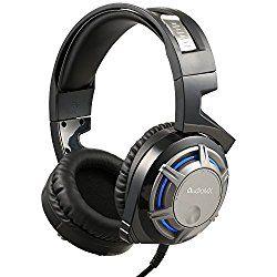 Audiomx ゲーミング ヘッドセットPS4 XBOX ONE パソコン ゲーム用 ヘッドホン 7.1chサラウンドサウンド ヘッドアーム伸縮可能 高集音性マイク付 軽量 ブラック GM10 おすすめ度*1 ASIN B01N7FI8EX 比較的付け心地の良い直径の大きめのイヤーマフ、頭を包み込む形で装着感の良いヘッドバンドが特徴。遮音性はそこそこある感じだが、音漏れもそこそこある。 audio-sound.hatenablog.jp 【1】外観・インターフェース・付属品 まずUSB専用だという点が大きな特徴で、PCのサウンドカードやDACなどを利用しづらい。内蔵の簡易DACのおかげか音質は…