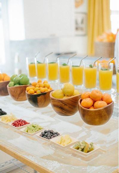 Add a juice bar to your wedding reception.