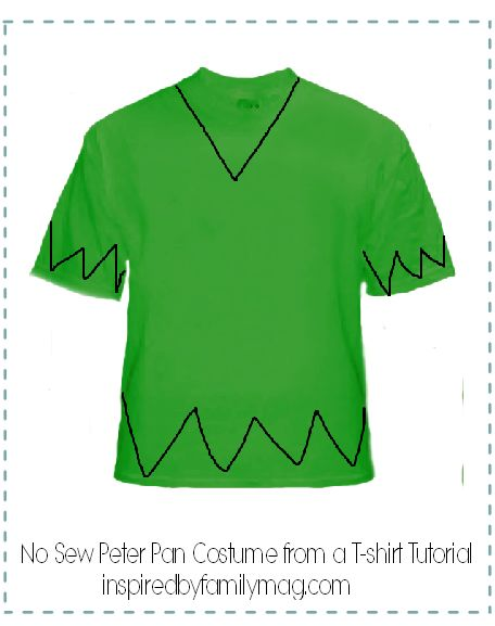 peter pan costume from a tee shirt