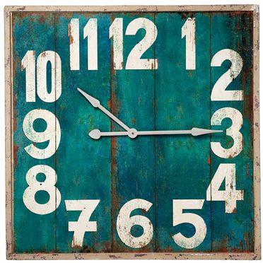 Wallclock Vintage Square 92cm...I would loooove an oversized wallclock!