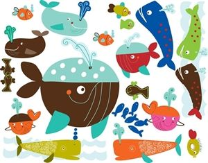 Picture of Chocovenyl Whales Wall Decal