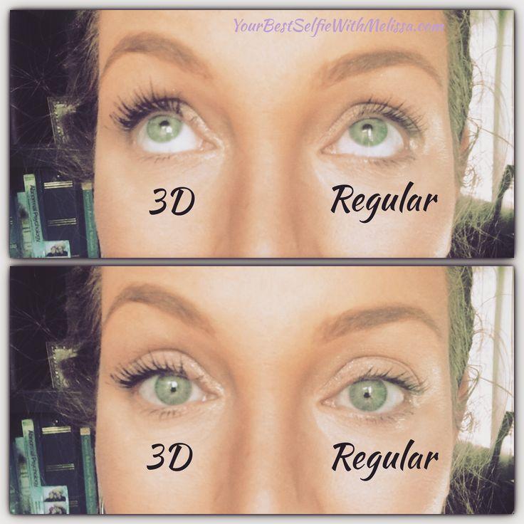 Younique 3D Fiber Lash Mascara vs 'regular mascara'  YourBestSelfieWithMelissa.com