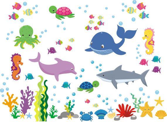 Under The Sea Decals Ocean Nursery Decals Aquarium