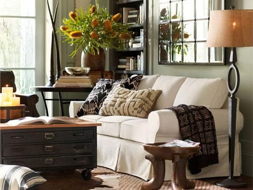[pinterest] source Thirty five colors were chosen to be in the Pottery Barn new Fall/Winter Collection. All colors are from the Benjamin Moore Aura Collection. Here are a few of the new colors I th…