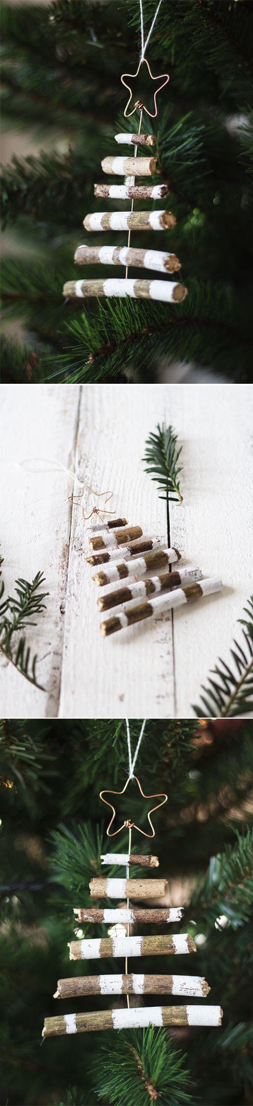 Weihnachtsbaum rustikal für Deko