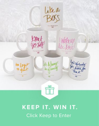 Win the sassiest mugs around from Keep and Ashley Brooke Designs #keepitwinit