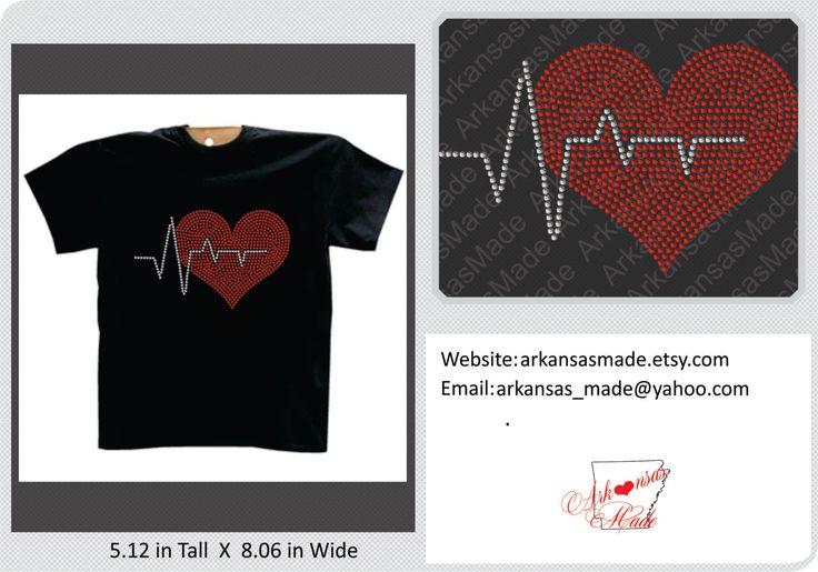 Heartbeat rhinestone shirt, ekg rhinestone shirt, Nurse shirt, LPN shirt, crna shirt, nurse bling, apn, RN rhinestones shirt, medic, EMT - pinned by pin4etsy.com