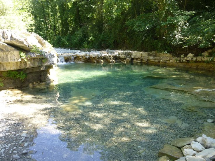 Natural Swimming Pool In A Stream Pools Pinterest Swimming Natural Swimming Pools And
