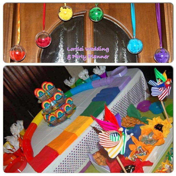 Collage Rainbow party