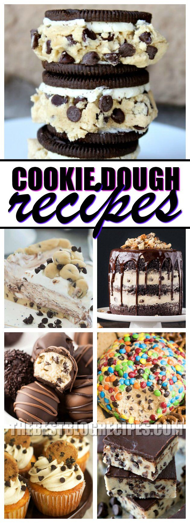 In love with Cookie Dough? So are we!!! That's why we've created the most drool-worthy, and downright sinfully delicious list of 21 Cookie Dough Recipes to make if you're OBSESSED with Cookie Dough. From stuffed Oreos, to cheesecake and fudge -- they are all easy to make and oh-so incredibly delicious too! via @bestblogrecipes