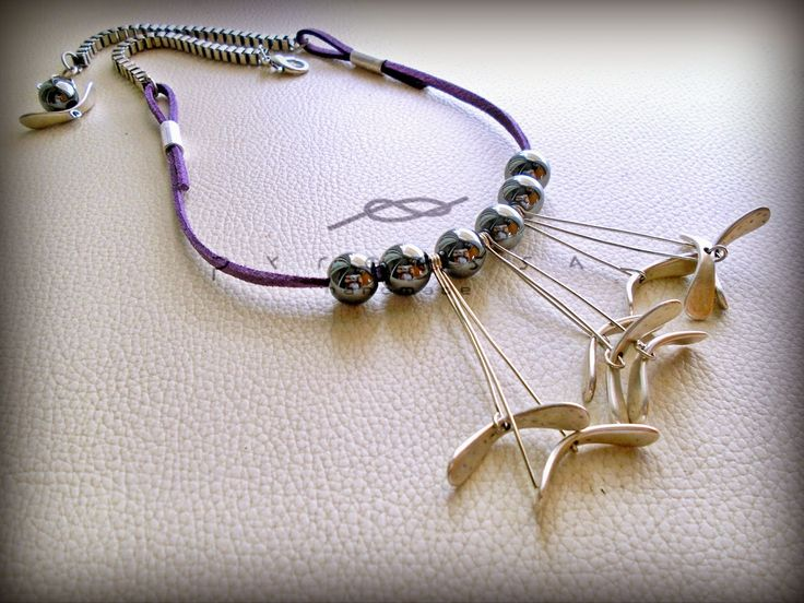 """Pyroessa Handmade: """"In rock"""" Necklace with hematite"""