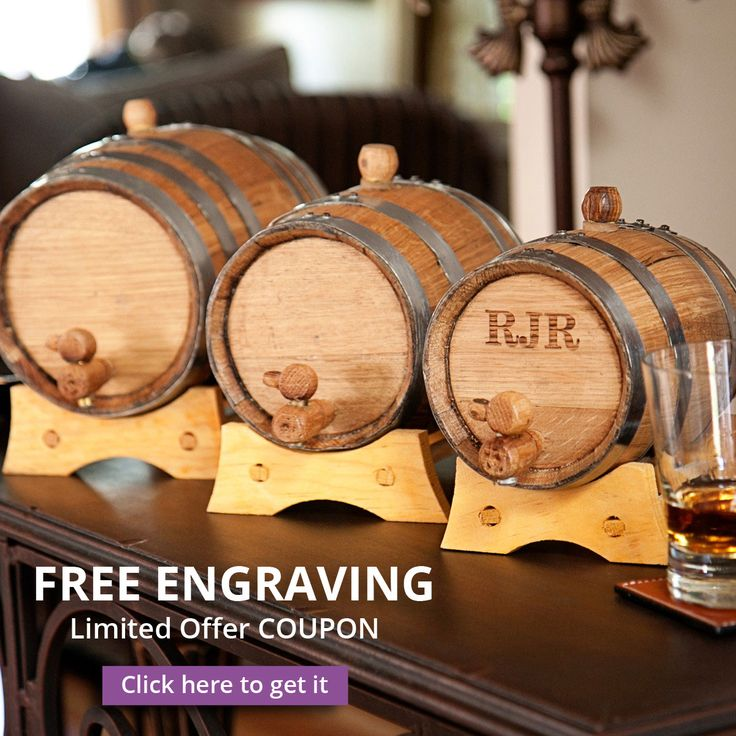 "FREE ENGRAVING for your special wedding guest.Kick up the ""spirits"" at your wedding reception with a Whiskey Mini Barrel, a uniquely tasteful feature at the open bar or trendy ""groom's lounge' area. Have a sip (or swig) of liquor that has been mellowed and matured to satisfy your exact tastes, even wine can be aged in these unusual groom and groomsmen gifts. Here's what comes with your purchase:  #weddings #Groomsmen #gifts #personalized #personalizedgifts #engravedgifts"