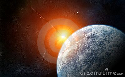 Rising Star with blue Planet by Enrico Giuseppe Agostoni, via Dreamstime