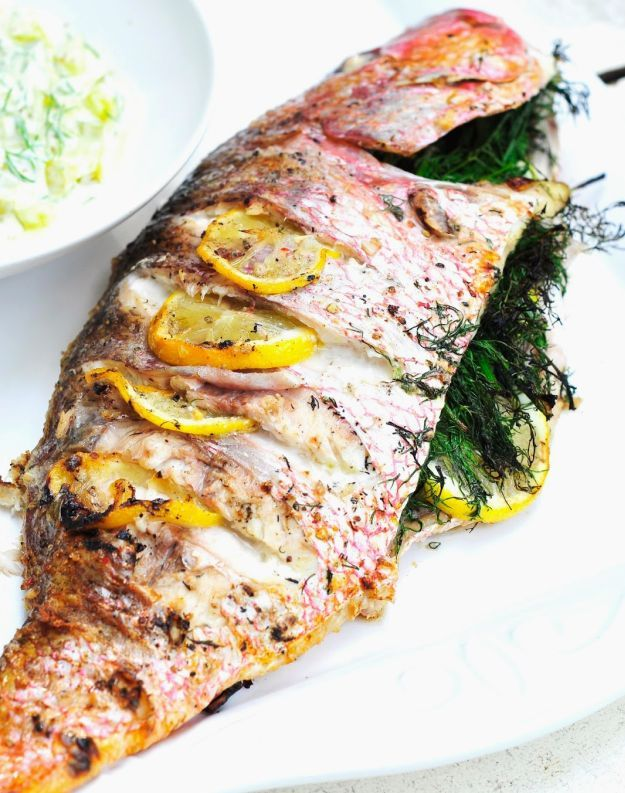 Grilled Red Snapper | A Dozen Grilled Seafood Recipes For Your Next Seafood Feast by Homemade Recipes at http://homemaderecipes.com/12-grilled-seafood-recipes/