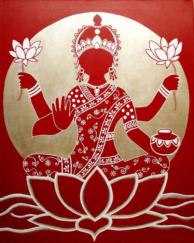 Lakshimi Hindu goddess of light, beauty, good fortune and wealth. Signifying loveliness and grace.