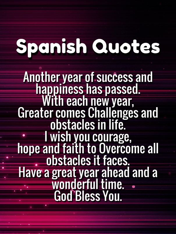 Inspirational Quotes In Spanish Happy New Year 2019 Wishes Quotes