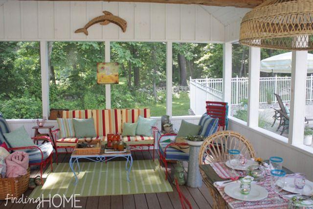 Vintage screened porch
