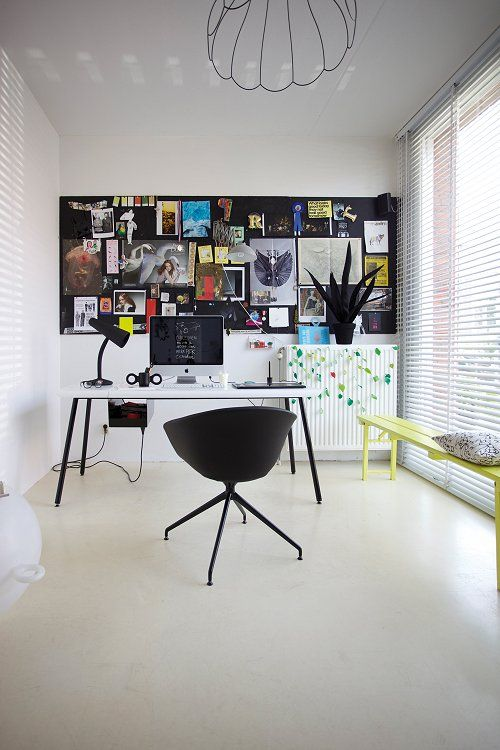 Blackboard walls + cool workspaces