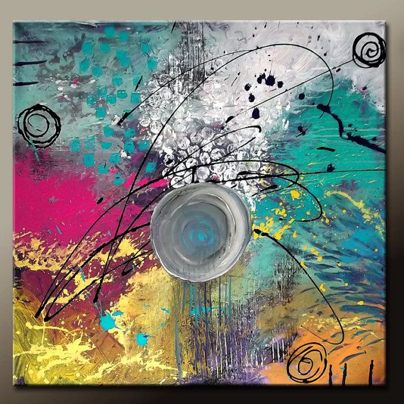 abstract canvas art painting original 36x36 textured palette knife art by destiny womack ready to ship dwo the balance