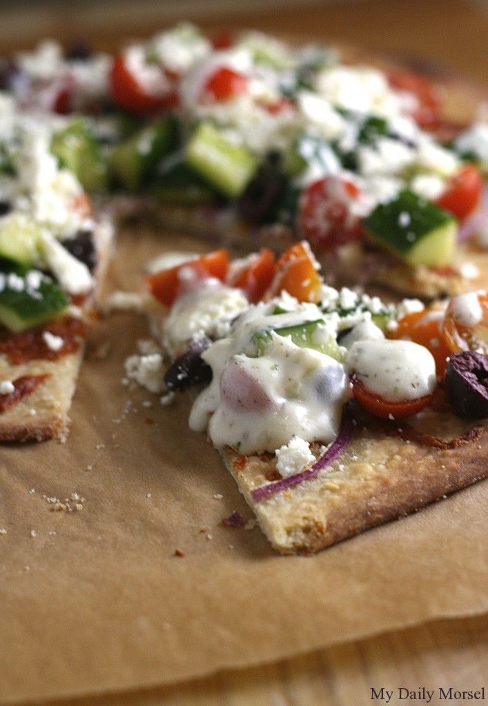 how to make greek pizza crust