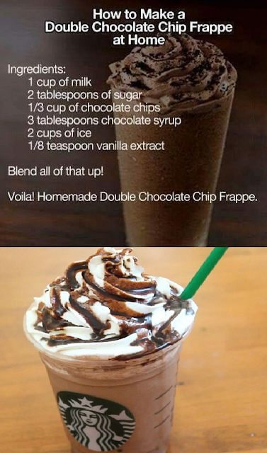 How To Make a Double Chocolate Chip Frappe at Home # ...