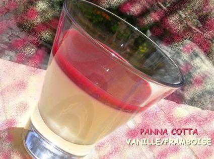 Panna cotta vanille-framboise