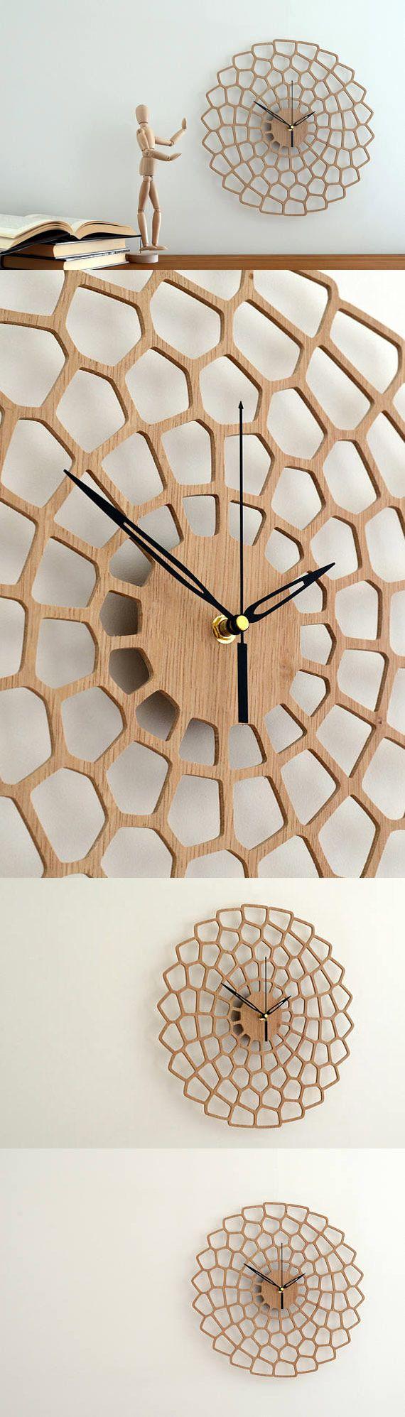 "17"" Wall Clock - Newlywed Gift, Wedding Gift, Large Wall Clock, Home Decor Gift, Wooden Clock, Modern Wall Clocks, Wall Clock Large"