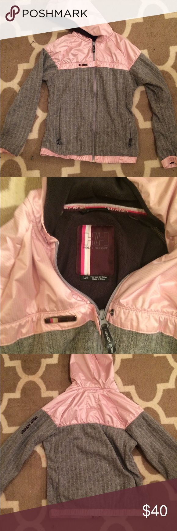 Helly Hansen jacket Pink and Grey jacket from hello Hensen jacket used size large. Good shape. I don't accept offers but I do 10% off 2+ bundle! Helly Hansen Jackets & Coats