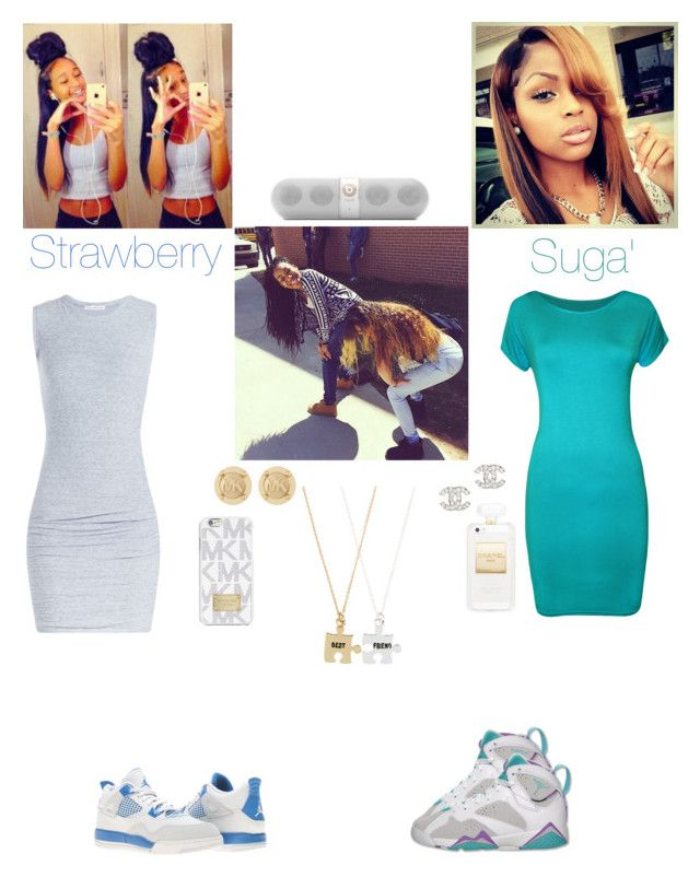 """She gone twerk, twerk, twerk then she turned around and DROPPED!!"" by reyanna2001 ❤ liked on Polyvore featuring James Perse, NIKE, WearAll, Monsoon, Chanel, Michael Kors, MICHAEL Michael Kors and Beats by Dr. Dre"