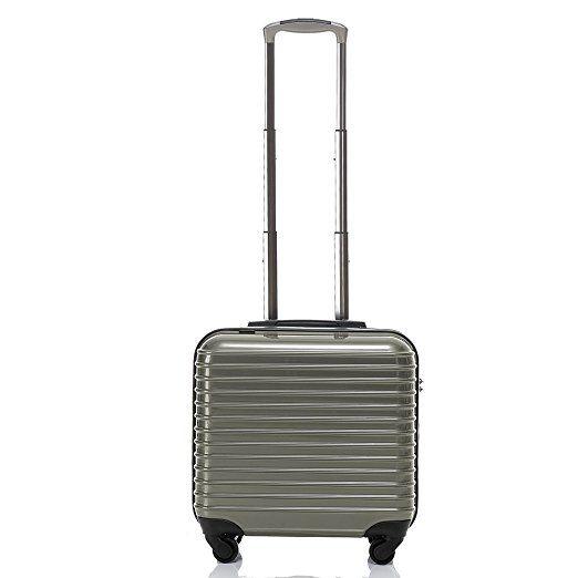 Travelhouse Cabin Size luggage Lightweight Hard Travel Trolley Luggage Suitcase Boarding Bag Carry On (grey)