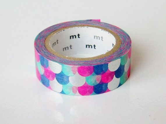 Limited Edition mt masking tape in the Metallic Fish Scales design...    This is a rare roll so be sure to grab it while you can! It is one of the