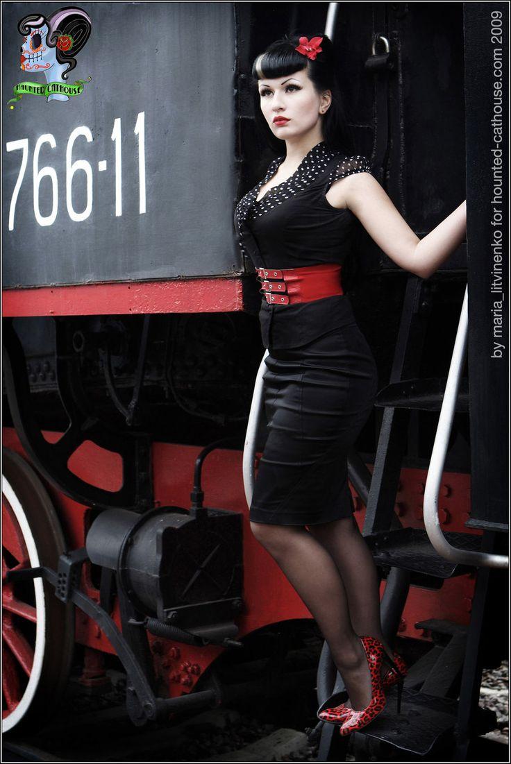Style pin-up rockabilly dress