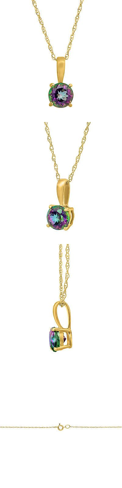 Gemstone 164332: 1 2 Ct Natural Green Mystic Topaz Pendant Necklace In 10K Yellow Gold, 16 -> BUY IT NOW ONLY: $49 on eBay!