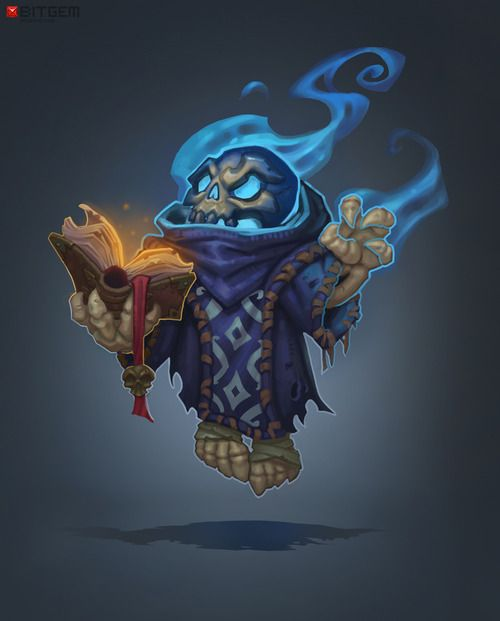 Skeleton Mage Concept …by Dmitriy Barbashin!